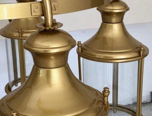 Verniciature effetto foglia in oro anticato